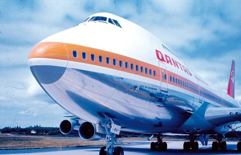 Between 1971 And 1984 Qantas 747S Carried The Distinctive 'Ochre Stripe' Livery E1596674541752